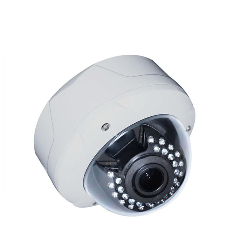 SSICON 2.0MP Varifocal Lens Dome IP CCTV Camera White Metal Home Surveillance Camera 4