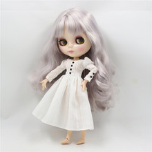 Factory Neo Blythe Doll Light Purple Silver Hair Jointed Body 30cm