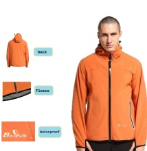 men's  autumn spring winter  waterproof  Windproof Outdoor fleece softshell jacket windbreaker breathable oil-proof  B-RMO-0001