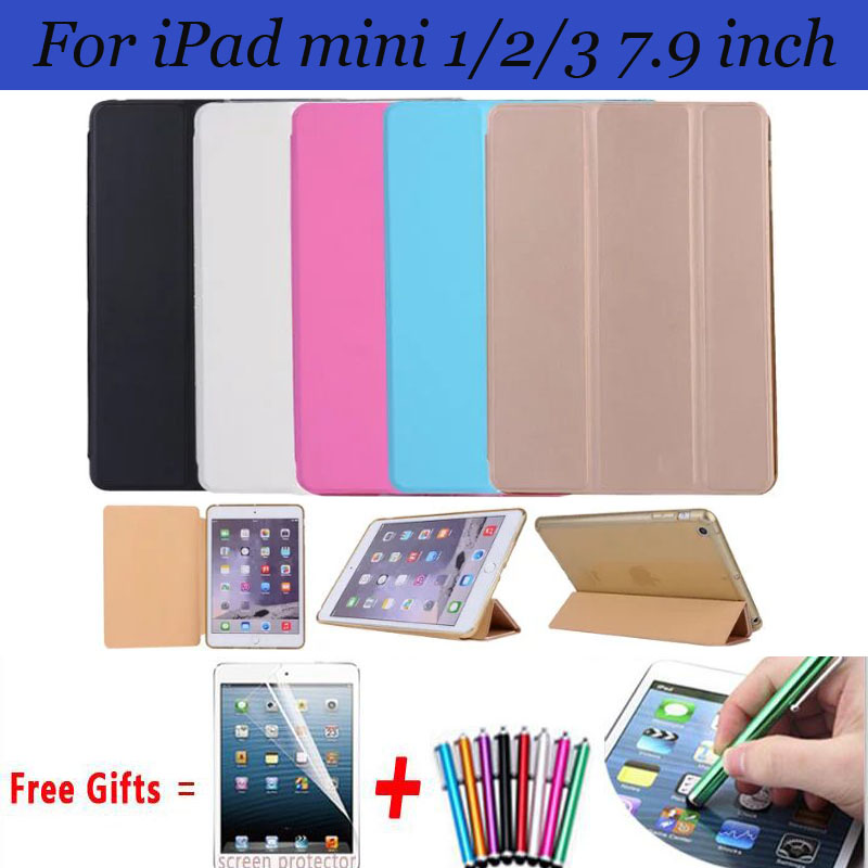 High Quality Magnet Covers for iPad mini Case with Stand Smart Cover for iPad mini 2 Case For iPad mini 3 Cover 7.9 inch high quality 7 9 for ipad mini lcd