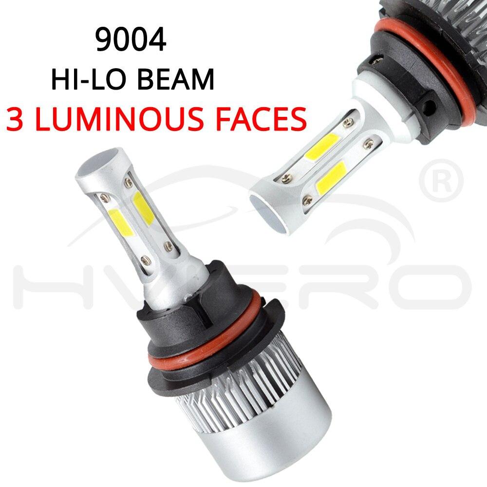 2X Auto Auto Headlight 9004 HB1 Hi Lo High Low Beam S2 COB IP65 Waterproof 6500K 72W 8000LM Headlamp Led Automotivo DC 12V 24V in LED Bulbs Tubes from Lights Lighting