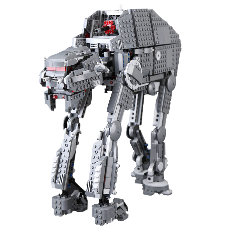 1541pcs Lepin Diy Star Wars First Order Heavy Assault Walker Blocks Comptiable With Legoingly 75189 Brick Toys For Children