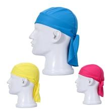 Outdoor Quick Dry Pure Cycling Cap Head Scarf Headscarf Headband Summer Men Running Riding Bandana Ciclismo Pirate Hat Hood