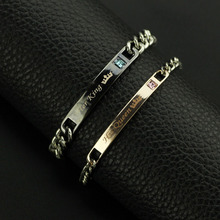 New Arrival Lettering Her King His Queen Couple Bracelets Crytal Crown Charm Bracelets