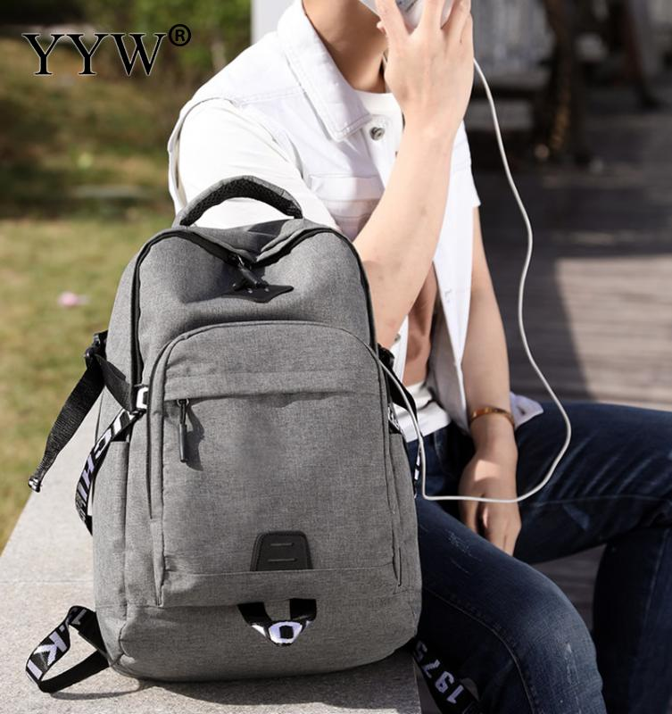 YYW 2018 New Fashion Men'S Backpack Bag Canvas Laptop Backpack Computer Bag High School Student Large Capacity Casual Backpack