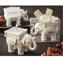 New Elephant Tea Light Candle Holder Ivory Ceramic Bridal Wedding Home Decor Wholesale