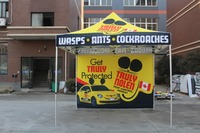 Free Shipping to Japan High quality 3X3m Advertising Pop Up Tents Print your logo one full wall