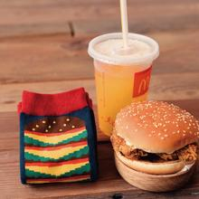Everyone loves a McD's ! McDonalds Hamburger & Fries Socks