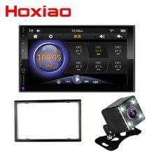 """2 DIN radio samochodowe lustro Link (na telefony z androidem) pojemnościowy ekran dotykowy 7 """"MP5 Bluetooth USB TF FM Camera odtwarzacz multimedialny 2din"""