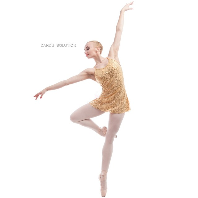 c59c72f7d812a Gold/Silver Sequin Dress for Girls and Women Ballet, Lyrical, Contemporary Dance  Costume for Performance Dancing Dresses 17004