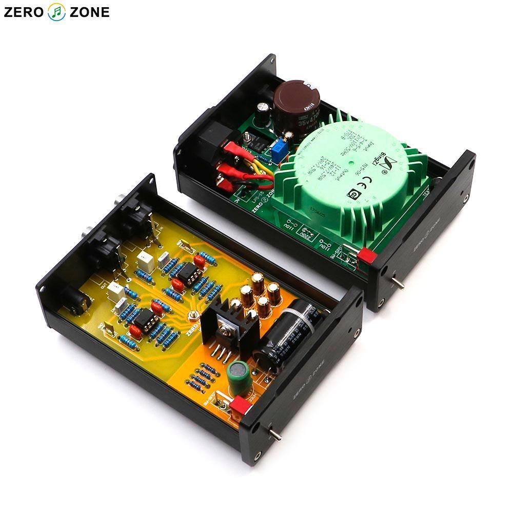 GZLOZONE HC-01A HIFI Stereo MM RIAA Phono Amplifier / phono Amp + Linear Power Supply tube mm phono stage amplifier board pcba ear834 circuit vinyl lp amp no including 12ax7 tubes riaa hifi audio diy free shipping