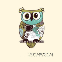 Cute Owl Hot Transfer Iron on Patches for Kids Clothes Sticker Washable  Appliques Parches Ironing Applications T@Th