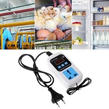 Digital Thermostat -50~110C Temperature Controller Switch AC110-220V with Socket 2019 digital thermostat 50 110c temperature controller switch ac110 220v with socket