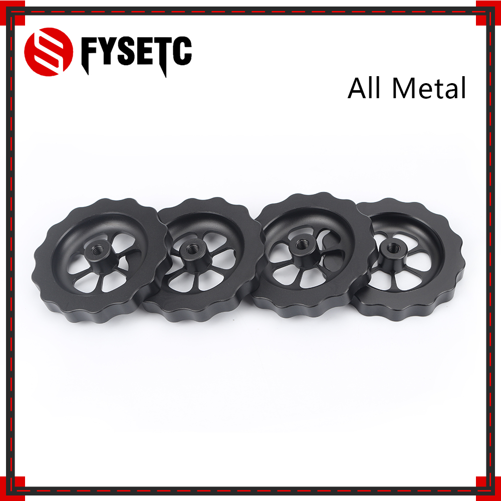 4pcs <font><b>3D</b></font> Printer <font><b>Parts</b></font> Big Hand Twist Leveling Nut All Metal For <font><b>TEVO</b></font> <font><b>Tornado</b></font> <font><b>3D</b></font> Printer Ultimate Leveling Knob Leveler M5 thread image