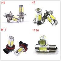 2Pcs Lot High Power H4 H7 H11 1156 7 5W COB LED Bulb Car Auto Light