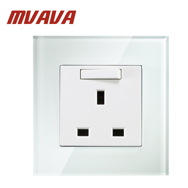 MVAVA British UK Standard Wall Socket With Switch 13A 250V Crystal ...