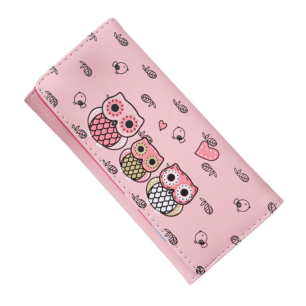 Maison Wallet Female Fashion Owl Printing Card Holders womens purse Long purse wallet female famous brand card holders 1.5