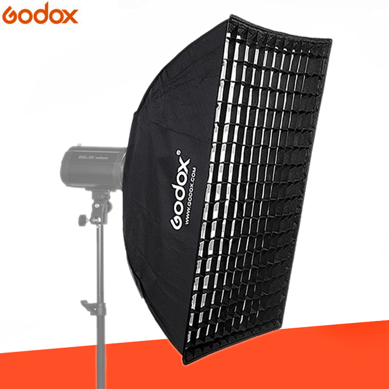 Godox 80cm 120cm Strip Beehive Honeycomb Grid Softbox with for Bowens Mount Studio Strobe Flash Light