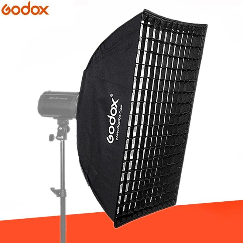 Godox 80 cm * 120 centímetros Tira Beehive Honeycomb Grade Softbox com para Bowens Monte Estúdio Strobe Luz do Flash Fotografia iluminação