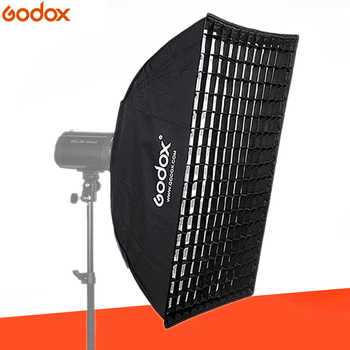 Godox 80cm*120cm Strip Beehive Honeycomb Grid Softbox with for Bowens Mount Studio Strobe Flash Light Photography Lighting - Category 🛒 Consumer Electronics