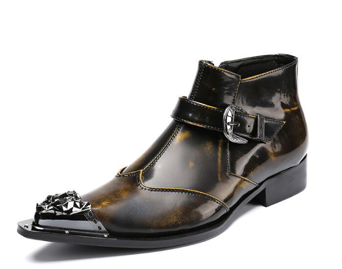 Neue Stahlkappe Metall Botas Masculina Mens Kniehohe Stiefel