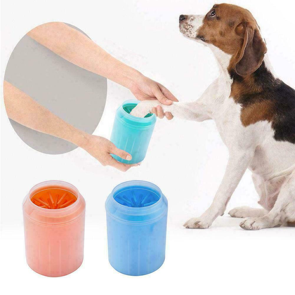 Portable Pet Foot Washer Cup Dog Paw Cleaner Cup Soft Silicone Combs Paw Clean Brush Easy Wash Dirty Cat Foot Cleaning Bucket