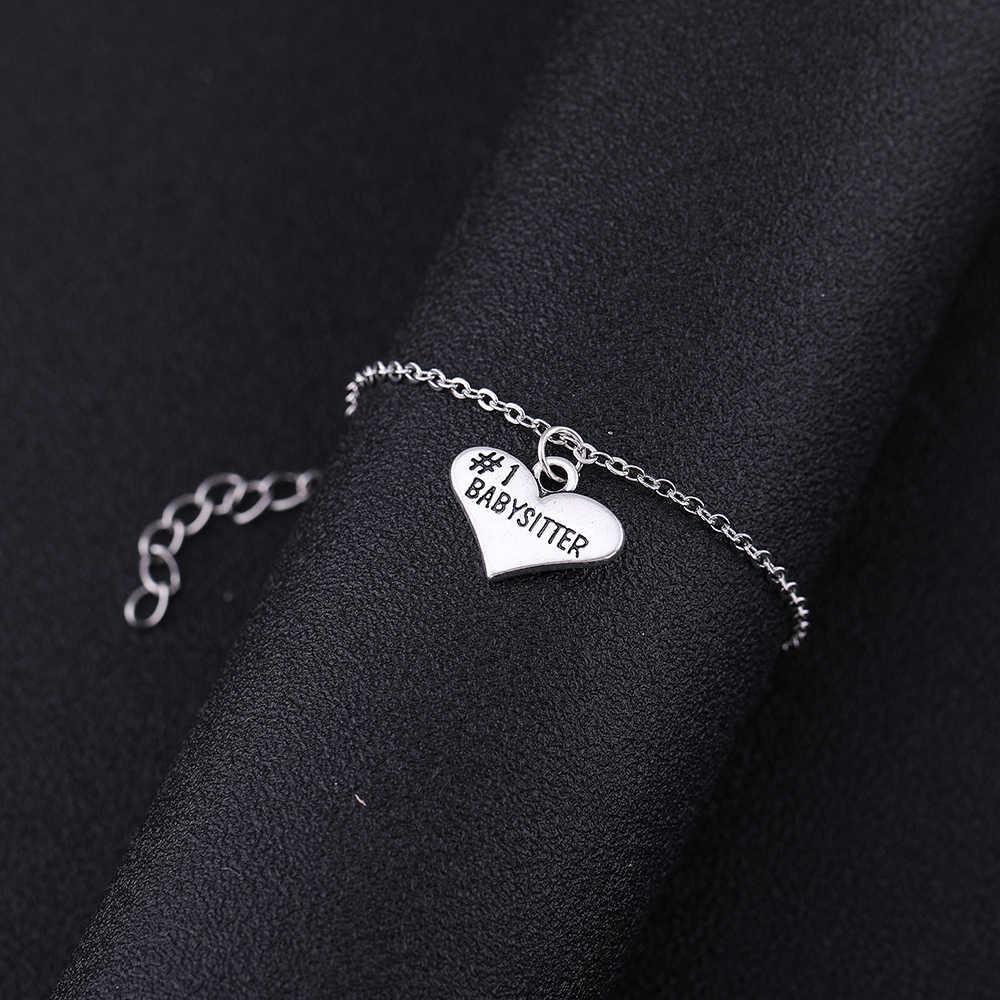 Dorapara сердечко серебряного цвета в форме шарма Ювелирный Набор для влюбленных сердце ребенка няня кулон ожерелье и браслет для женщин