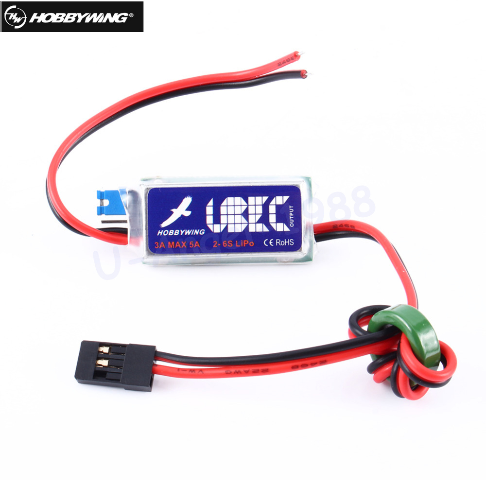 1 pcs D'origine HOBBYWING 5 V/6 V RC UBEC 3A Max 5A Le Plus Bas Bruit RF BEC Plein Blindage antibrouillage Régulateur de Commutation