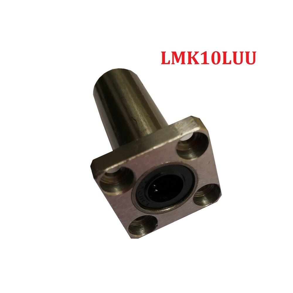 4 stks/partij LMK10LUU 10mm Lange type Vierkante Flang Type Lineaire Lager Voor 3d Printer Deel