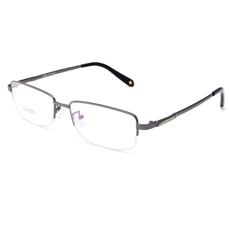 Gmei Optical S8207 Alloy Metal Semi Rimless Eyeglasses Frame for Men ...