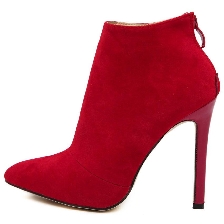 Belle vertraglich stil einfarbig schwarz frauen rot hochzeit schuhe - Damenschuhe - Foto 3