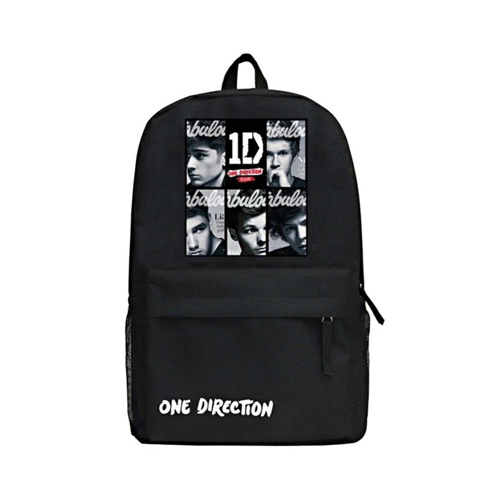 Zshop What Makes You Beautiful Boy's Backpack One Direction Daypack Fashion Famous Singer 1D Backpack Cool High School Bag zshop nine track charlie puth backpack for fans famous singer daypack