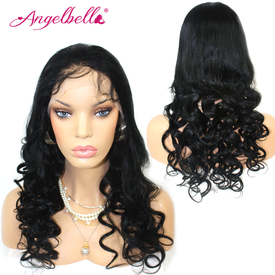 Angelbella Wigs Lace Front Brazilian Loose Wave Cheap Wigs