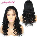 Angelbella Wigs Lace Front Brazilian Loose Wave Cheap Wigs Natural Black Affordable Wigs Best Online Shopping Sites for Women
