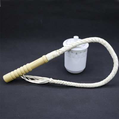 White 3 Size Leather Horsewhip Horse Racing Equestrian Tool Horse Riding Equipment Hand Made Braided Riding Whips Wood Handle(China)