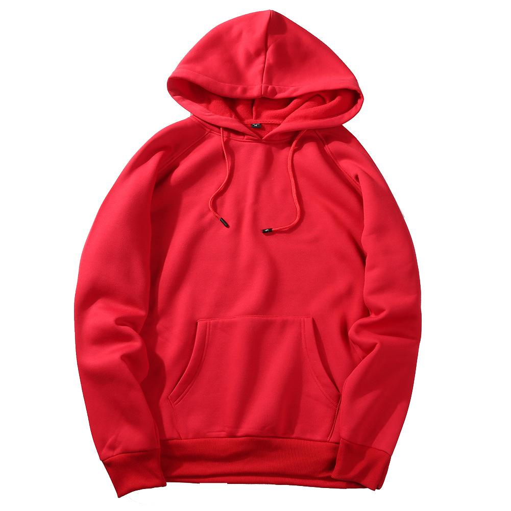 Men's Sportswear Long Sleeve Workout Tops Mens Sports Jackets Gym Sweater Shirts Sport Hoodies For Autumn Training Europe Size - Цвет: red