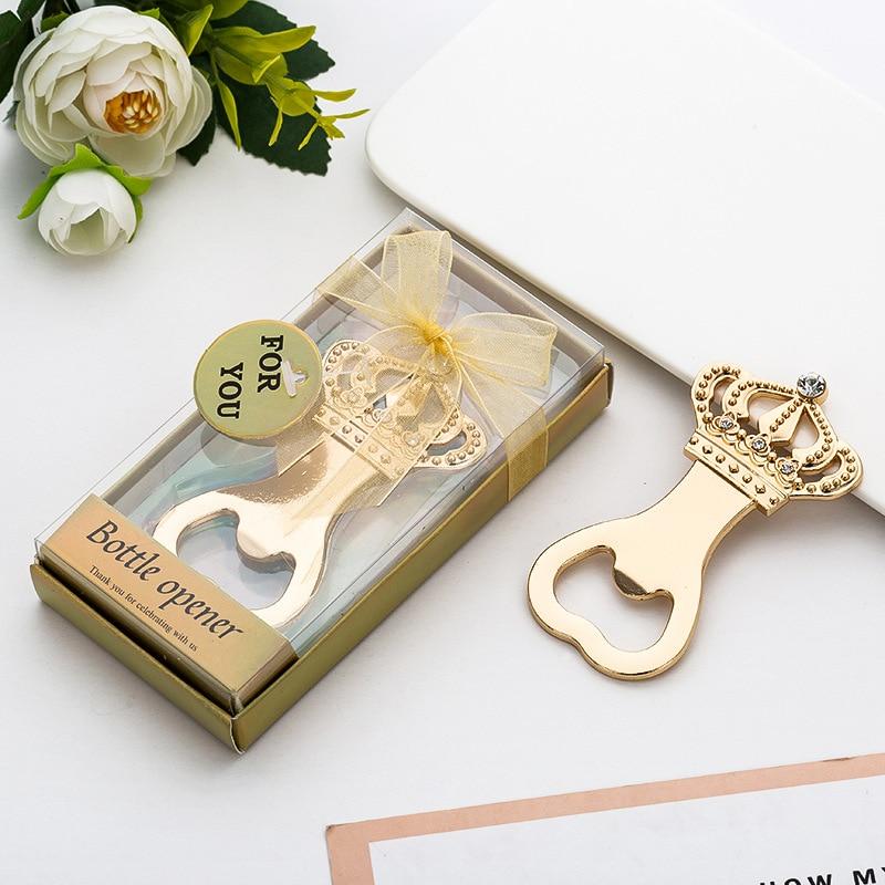 100 PCS Gold Crown เปิดขวด Favors การแจกแจงเหตุการณ์ครบรอบวันเกิดของขวัญงานแต่งงานเจ้าสาวที่เปิด-ใน ของขวัญงานปาร์ตี้ จาก บ้านและสวน บน   1
