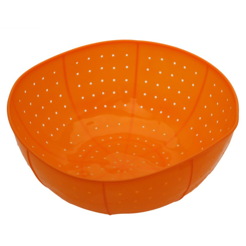 Multifunction Soft Silicone Drain Basket Kitchen Ware Rice Vegetables Fruit Washing Baskets Microwave Dish Cover