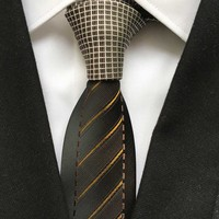 Fashion Designer Men Skinny Tie Unique Slim Necktie for Party Wedding