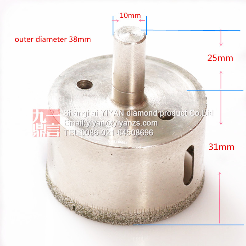 10pcs Tile Glass ceramic Hole Saw Diamond Cutting tool Core Drill Bit 38mm Diameter Free Shipping best promotion 10pcs set diamond holesaw 3 50mm drill bit set tile ceramic porcelain marble glass top quality