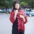 Oversized  Autumn and Winter Women Scarves Plaid Cashmere Scarf Unisex Acrylic Shawls Female pashmina bufandas SW141