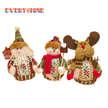 Home Decora Christmas Ornaments Santa Claus Snowman Elk Decoration Christmas Tree Toy for Kids SD158(China)