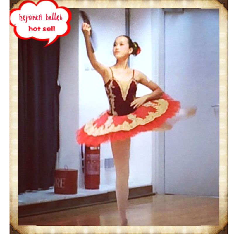 Бесплатная доставка, профессиональная красная балетная пачка под заказ, балетная танцевальная одежда, лиф и Тюлевая юбка, для взрослых или