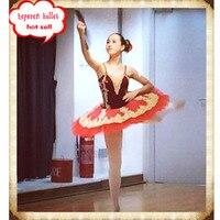 Free Shipping Professional Custom Made Red Ballet Tutu,Ballet Dancewear Bodice & Tulle Skirt, Adult or Children