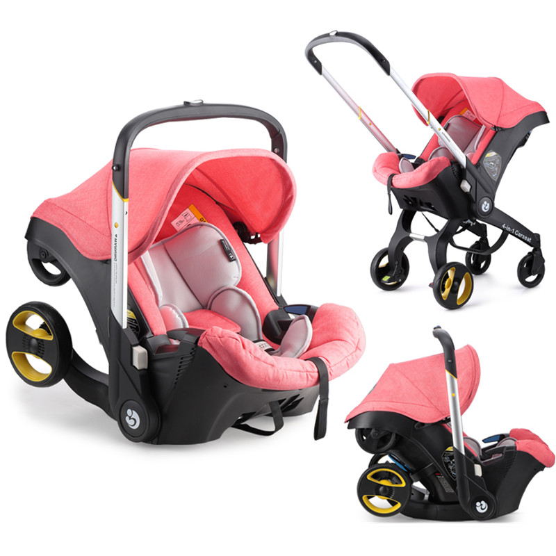 Portable Baby Strollers 3 in 1 Folding Light with Car Seat Stroller and Baby Bassinet Carriage European Prams все цены