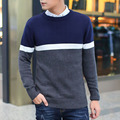 Multi Color Striped Sweater Autumn Winter Sweater Men Pullover O-neck Knitted Full Sleeve Mens Sweaters Top Quality Pull Homme