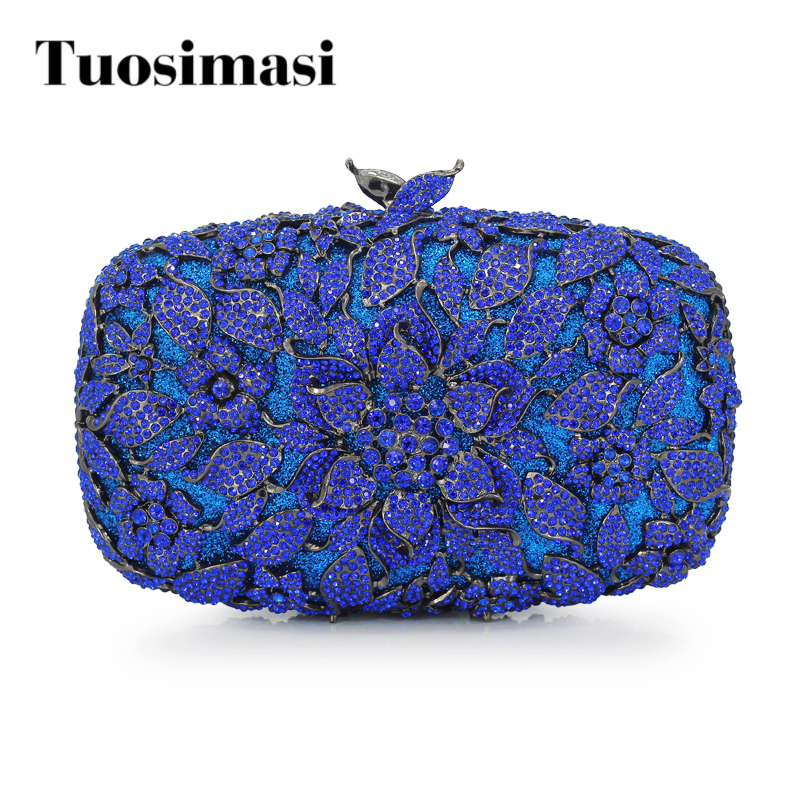 Gift Box Diamond Rhinestone Purses Ladies Fashion Evening Clutch Bags Blue Crystal Party Clutches Wedding Bridal Bag(88216-GG)