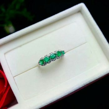 SHILOVEM 925 sterling silver Natural Emerald rings classic fine Jewelry women wedding plant  new wholesale yhj0304081agml