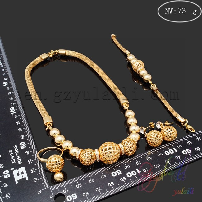 Gold Plated Bead Jewelry Set Costume African Sets Settings Without Stones In From Accessories On Aliexpress