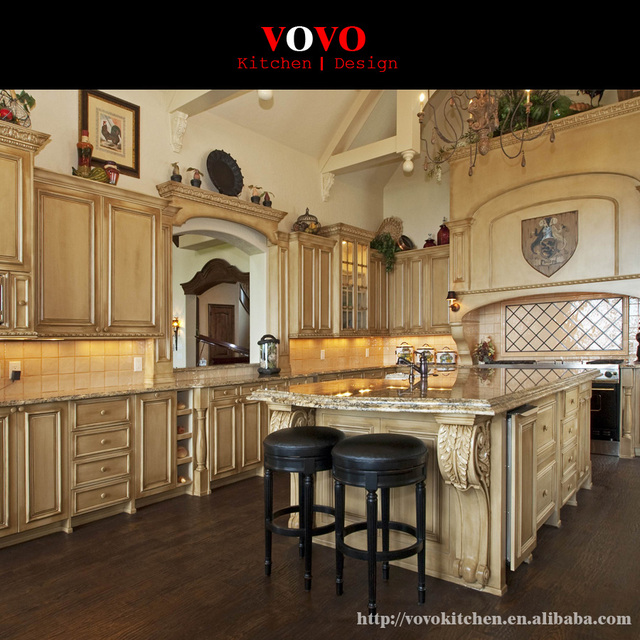 Us 5599 0 European All Wood Kitchen Cabinet With Big Island In Centre In Kitchen Cabinets From Home Improvement On Aliexpress Com Alibaba Group